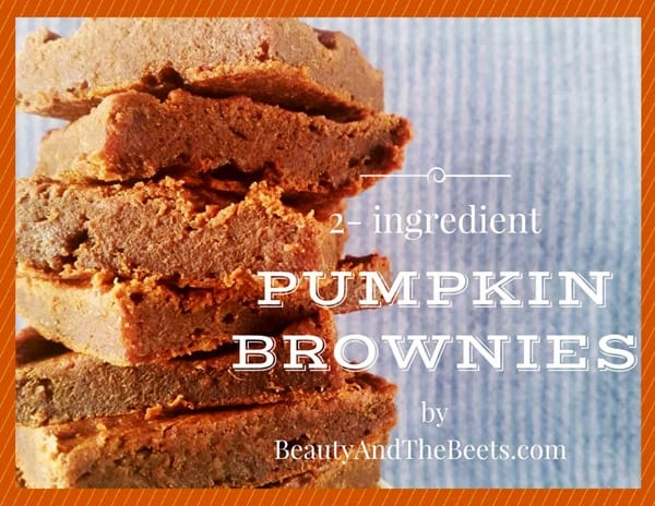 Easiest 2-ingredient pumpkin brownies by Beauty and the Beets