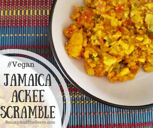 Vegan Jamaica Ackee Scramble Beauty and the Beets