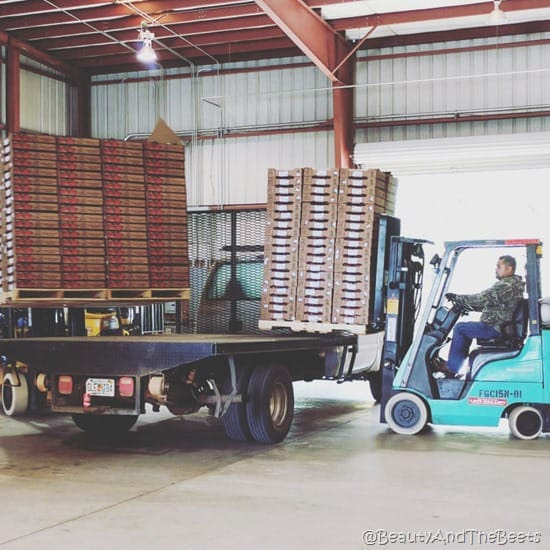 Grimes Produce Company forklift Beauty and the Beets