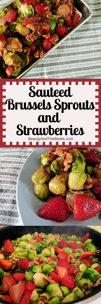 Brussels Sprouts and Strawberries by Beauty and the Beets