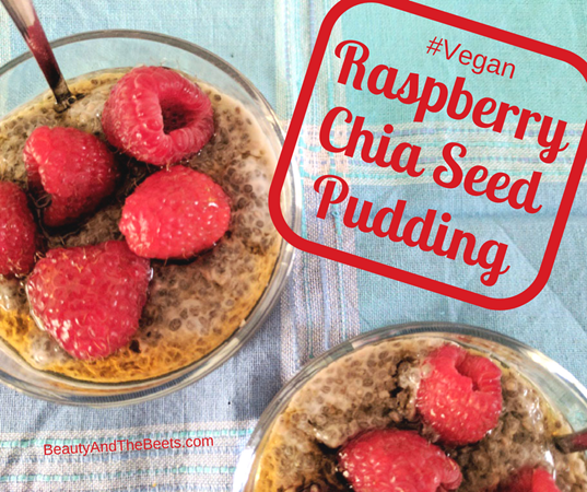 Vegan Raspberry Chia Seed Pudding by Beauty and the Beets (1)