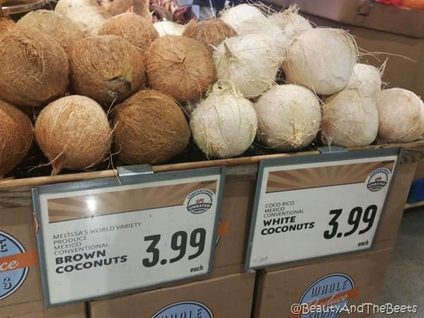 Whole Foods Austin coconuts Beauty and the Beets
