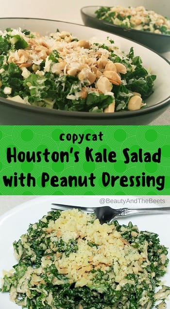 Beauty and the Beets copycat Houstons Kale Salad with Peanut Dressing (1)