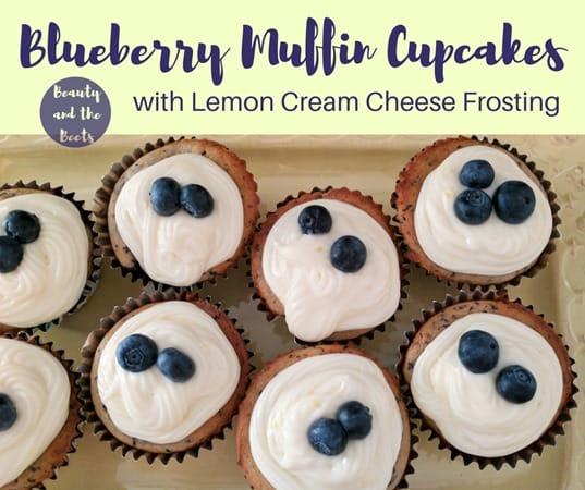 Beauty and the Beets Blueberry Muffin Cupcakes