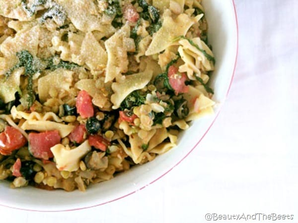 Lentil Tomato Pasta Beauty and the Beets (9)