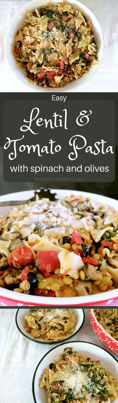 Lentil and Tomato Pasta recipe by Beauty and the Beets (1)