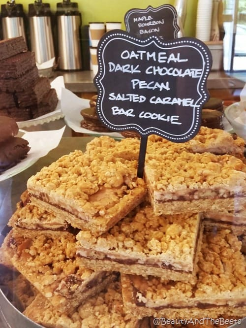 Se7en Bites Oatmeal Dark Chocolate Pecan Salted Caramel Bar Cookie BATB