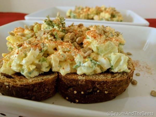 The Tastiest Egg Salad Toast