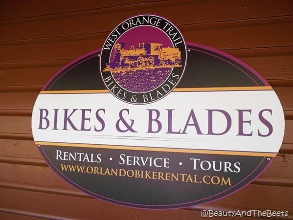 a sign for Bikes and Blades West Orange Trail