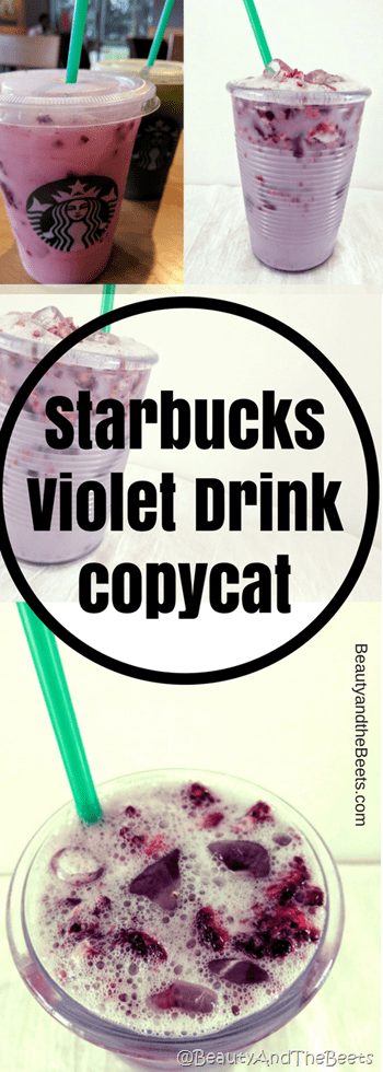 Starbucks Violet Drink copycat by Beauty and the Beets