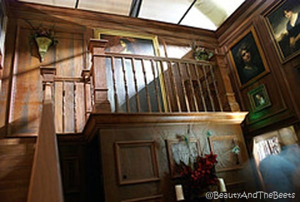The Nevermore Library Halloween Horror Nights wooden staircase