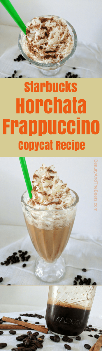 Starbucks copycat recipe Horchata Frappuccino Beauty and the Beets