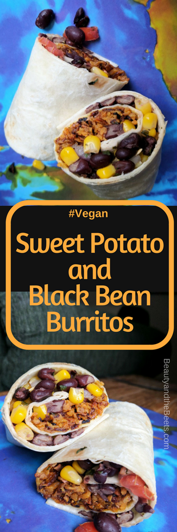 Sweet Potato and Black Bean Burrito #Vegan Beauty and the Beets (1)