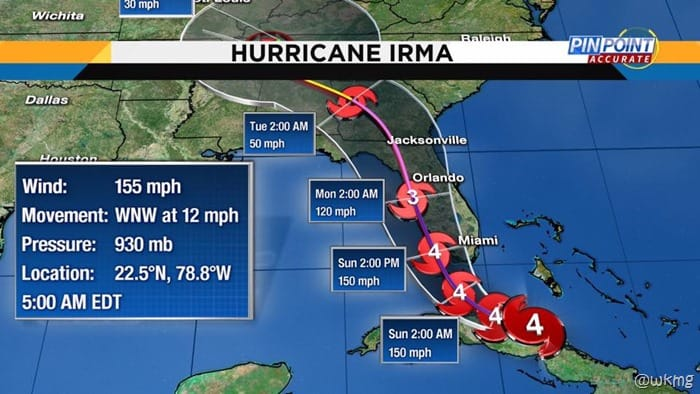 hurricane irma track wkmg
