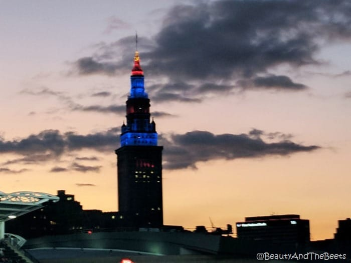 Terminal Tower sunset Progressive Field Beauty and the Beets