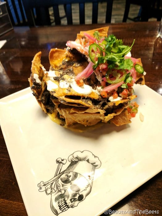 Trash Can Nachos plate Guy Fieris American Kitchen Villages Beauty and the Beets