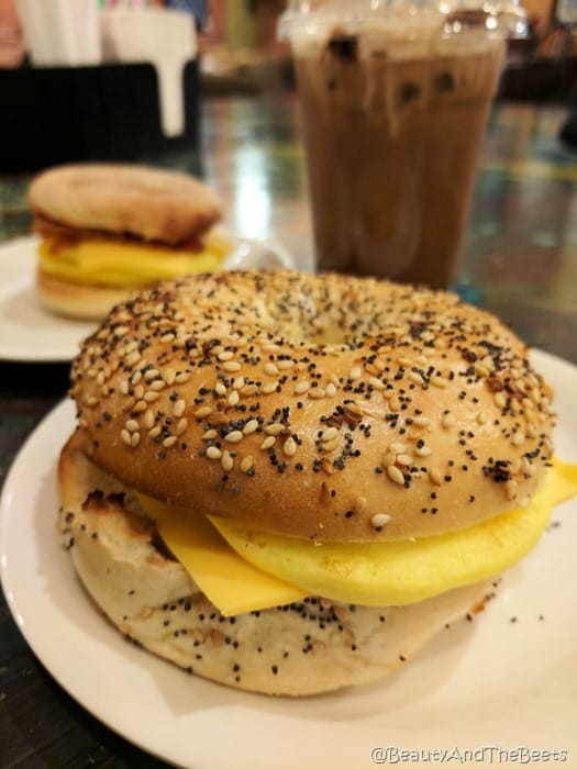 bagel egg sandwich Mr Smiths Coffee House Sandusky Beauty and the Beets