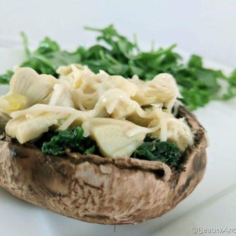 10-minute Spinach Artichoke Mushroom Cap