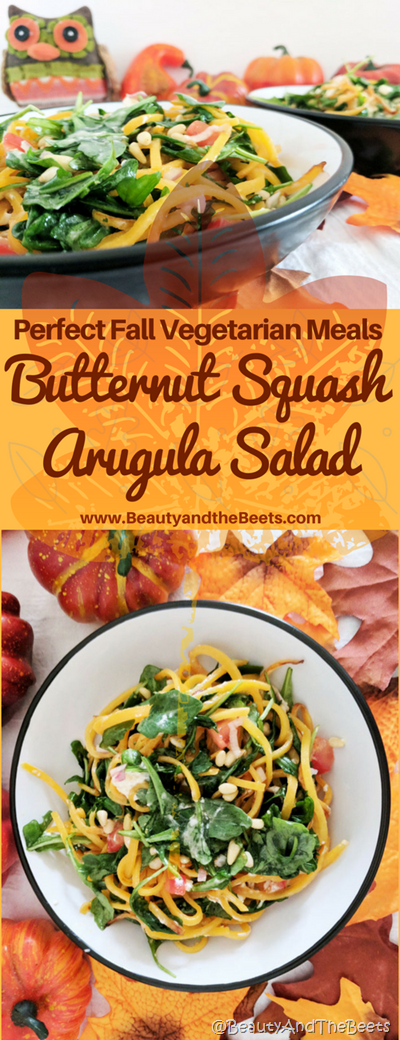 Butternut Squash Arugula Salad recipe Beauty and the Beets
