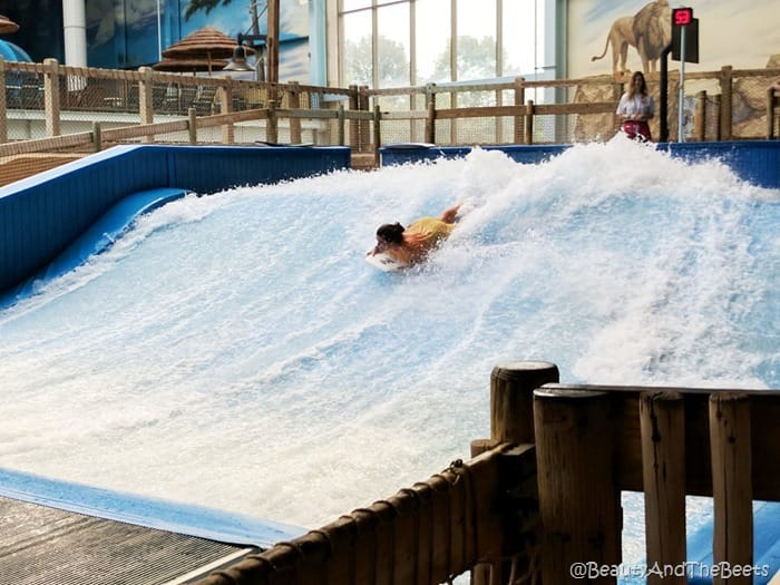 Flow Rider waterpark Kalahari Resort Sandusky Beauty and the Beets