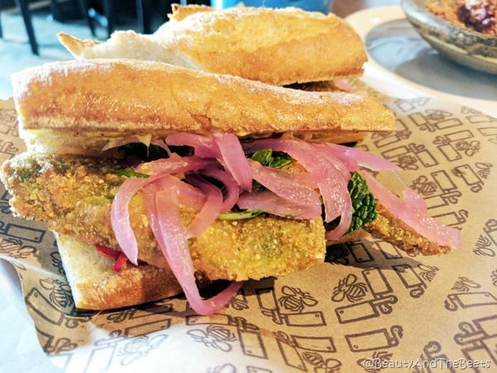 Fried Avocado Sandwich Butcher and Bee Nashville Beauty and the Beets
