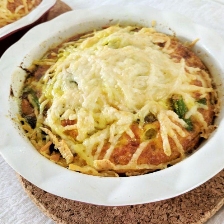 Mushroom, Asparagus & Parmesan Egg Tart