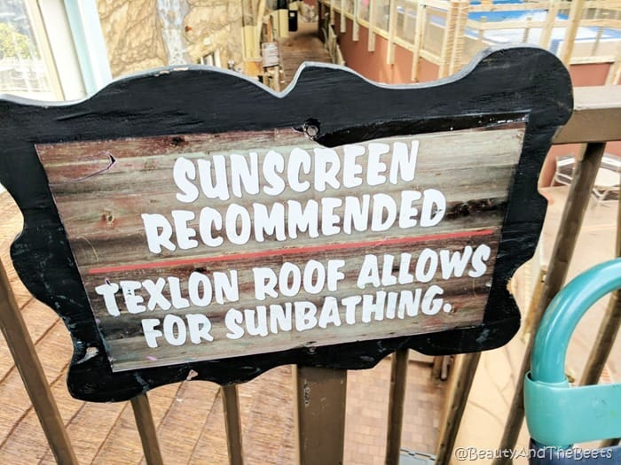 Sunscreen recommended waterpark Kalahari Resort Sandusky Beauty and the Beets