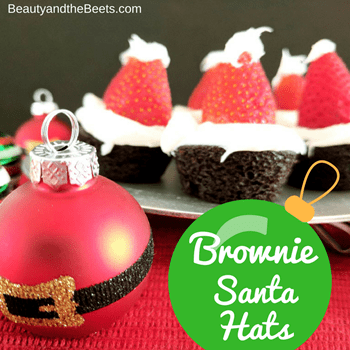 Brownie Santa Hats Beauty and the Beets