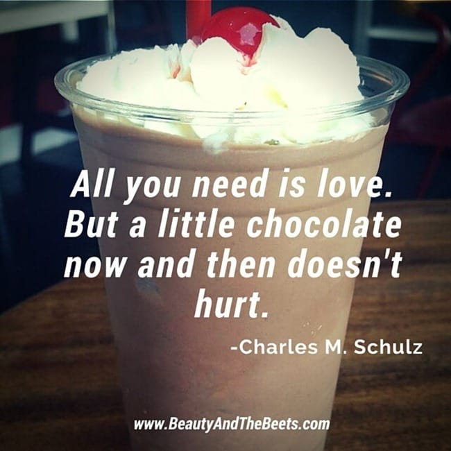 All you need is chocolate Beauty and the Beets