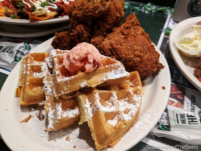 Chicken and Waffles Metro Diner Beauty and the Beets
