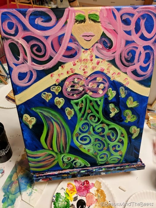 Mermaid Painting with a Twist Beauty and the Beets