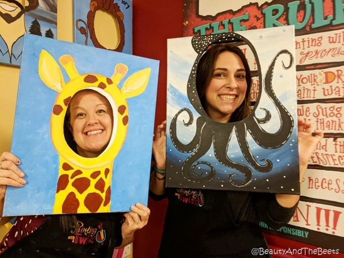We are so cute Painting with a Twist Beauty and the Beets