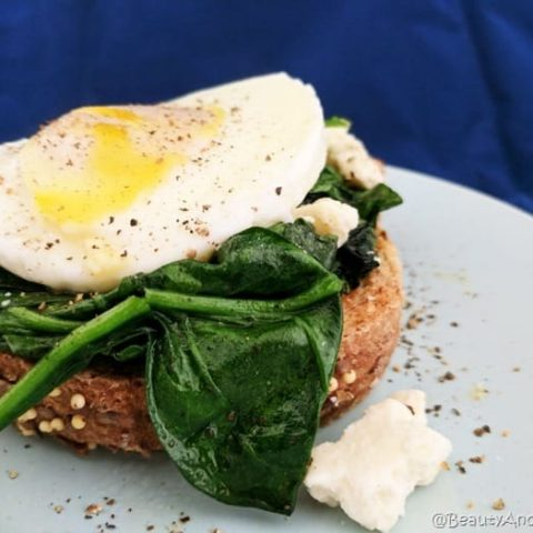 Spinach, Egg, and Feta Toast
