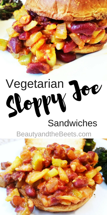 Beauty and the Beets Vegetarian Sloppy Joes