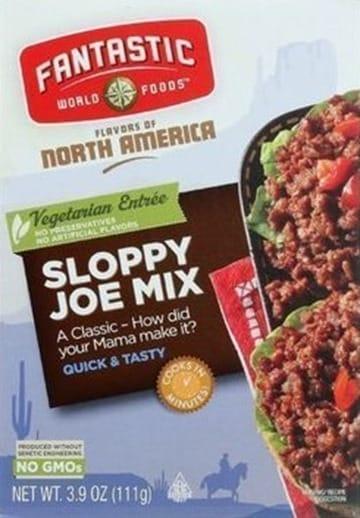 Fantastic Foods Sloppy Joe Mix Beauty and the Beets