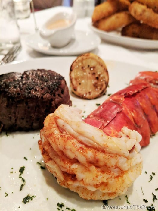 Flemings Prime Steakhouse Beauty and the Beets lobster