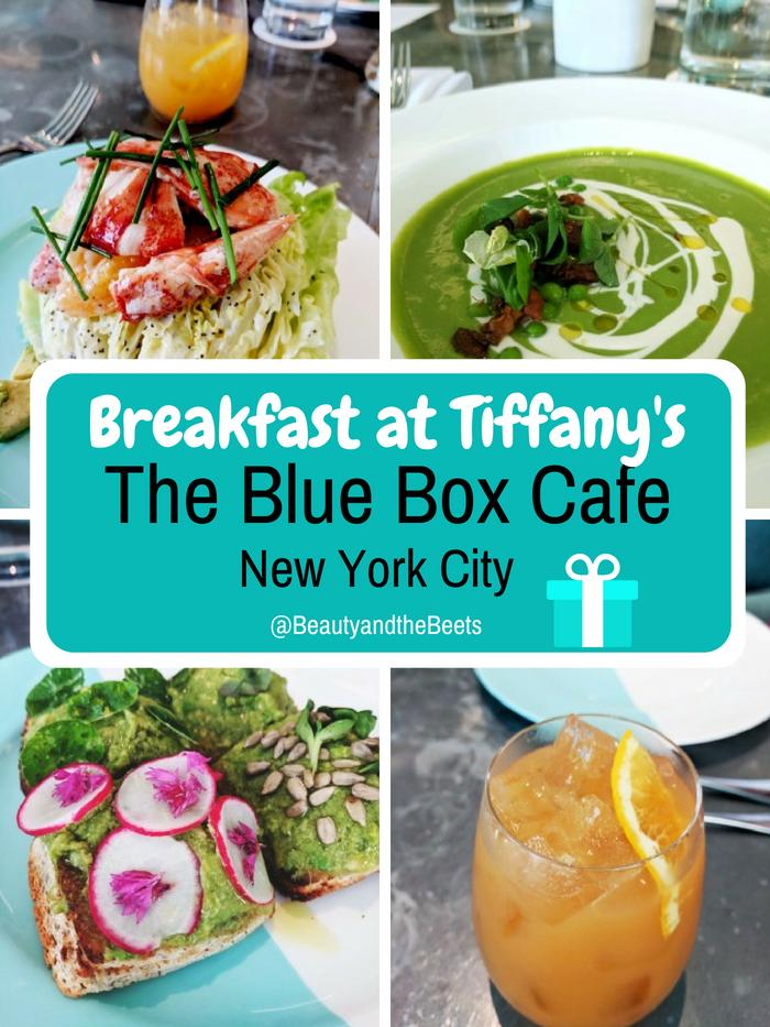 I had Breakfast at Tiffany's. The Blue Box Cafe in New York City #BreakfastatTiffanys #BlueBoxCafe #NewYorkCity