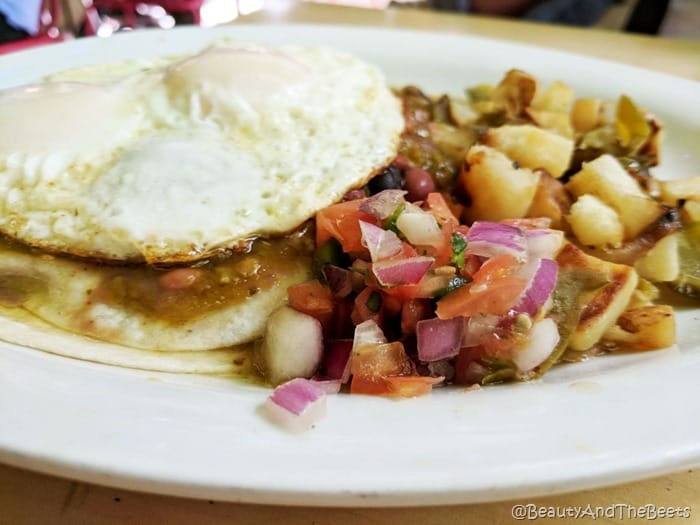 Eddie McStiffs Moab Beauty and the Beets Huevos Rancheros