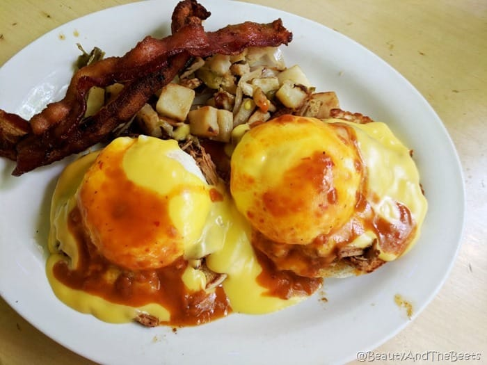 Southwest Eggs Benedict Eddie McStiffs Moab Beauty and the Beets