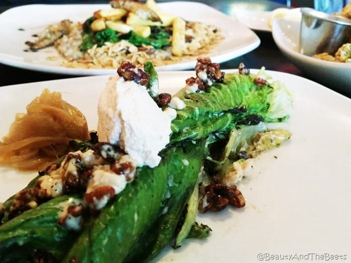 grilled romaine salad Fiction Kitchen Raleigh Beauty and the Beets
