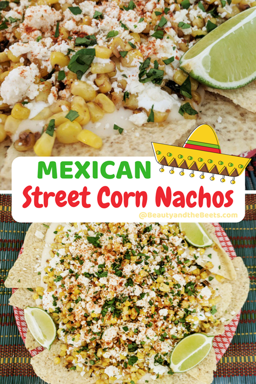 Who doesn't love Mexican Street corn Nachos. Easy to make. #esquites #MexicanStreetCorn #MeatlessMonday