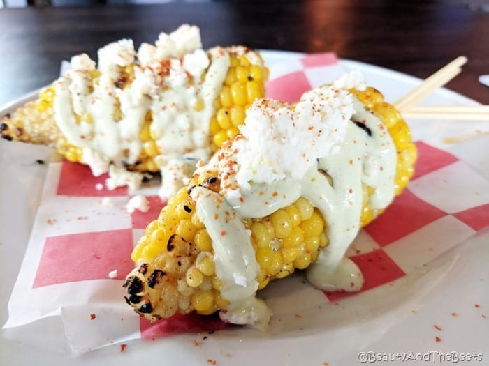 Four Rebels Tacos Mexican Street Corn Beauty and the Beets