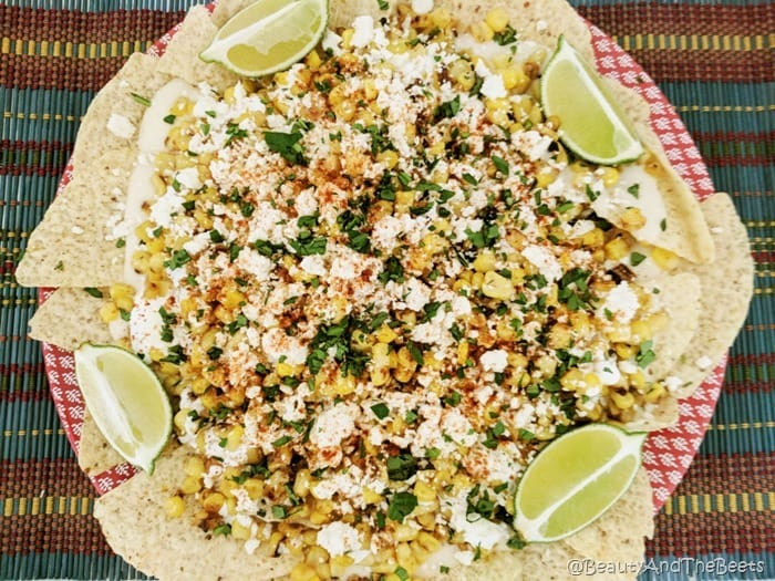 Mexican Street Corn Nachos Beauty and the Beets limes