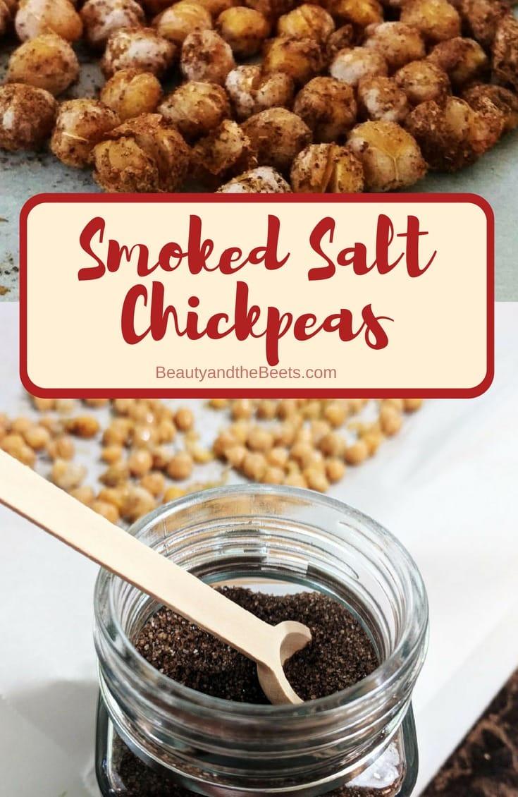 Smoked Salt Chickpeas #healthysnack #smokedsalt #roastedchickpeas #Vegan 3vegansnack