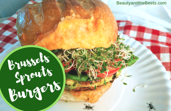 Beauty and the Beets Brussels Sprouts Burgers recipe