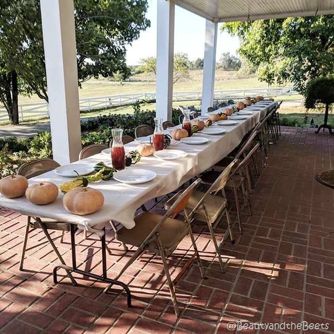 #FarmFoodTour Kansas Beauty and the Beets dinner table