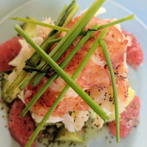 Lobster & Grapefruit Salad with Poppy Seed Dressing