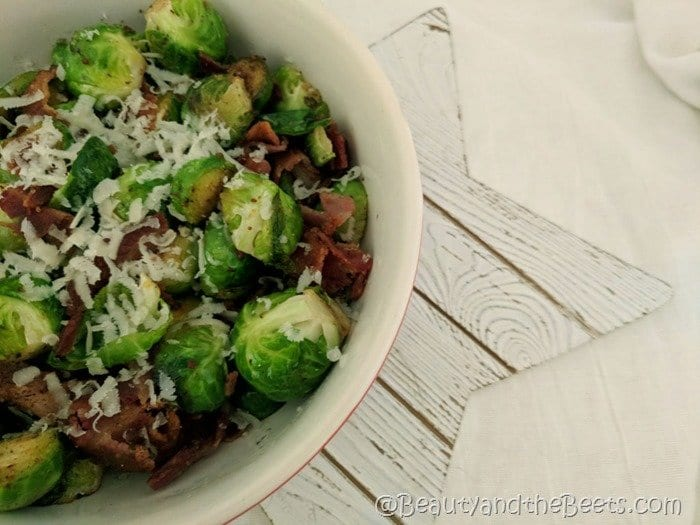Brussels Sprouts Bacon Parmesan Beauty and the Beets