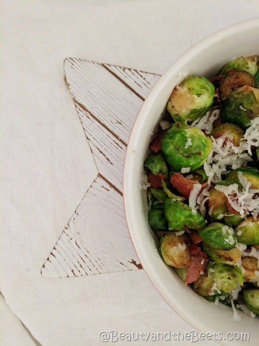Brussels Sprouts Bacon Parmesan recipe Beauty and the Beets