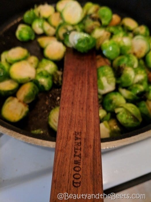 Brussels Sprouts sautee Beauty and the Beets
